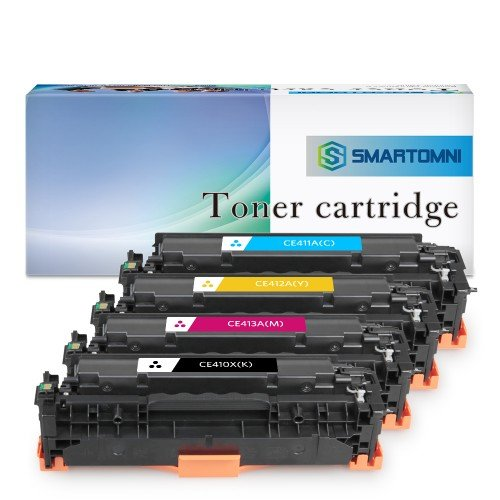 2BK+C+M+Y 5 Pack 305A CE410A CE411A CE412A CE413A Remanufactured Toner Replacement for HP Color Laserjet Pro M351a M451nw M451dn M451dw MFP M475dn MFP M475dw MFP M375nw